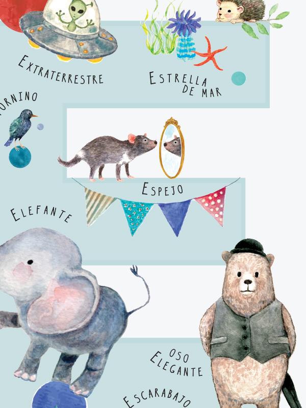 Letra E en español detalle